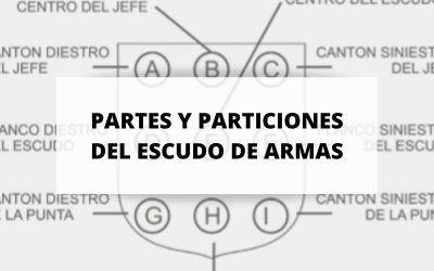 Partes de escudo de armas y particiones del escudo de armas