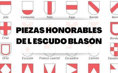 Piezas fundamentales o de honor del escudo blasón